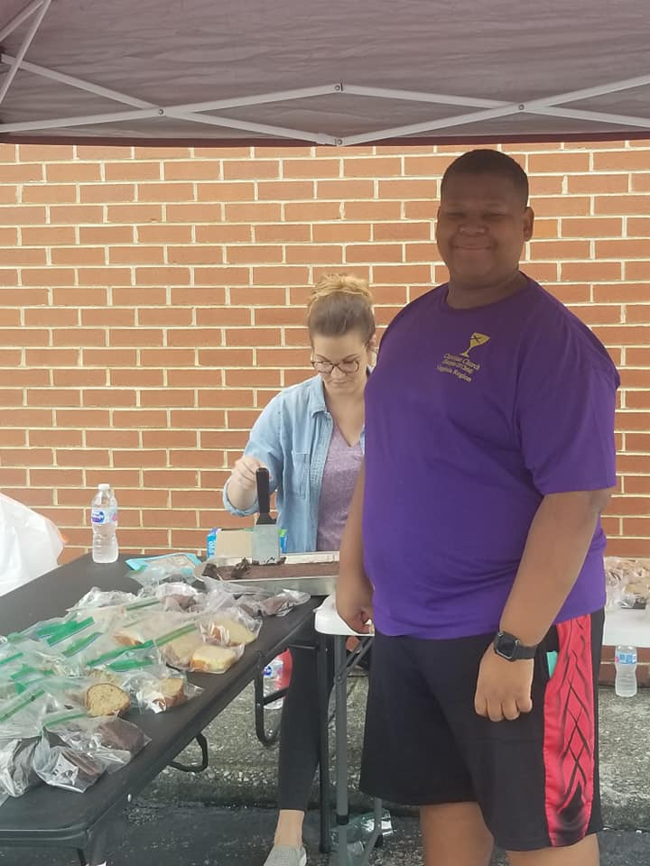 Working the Bake Sale